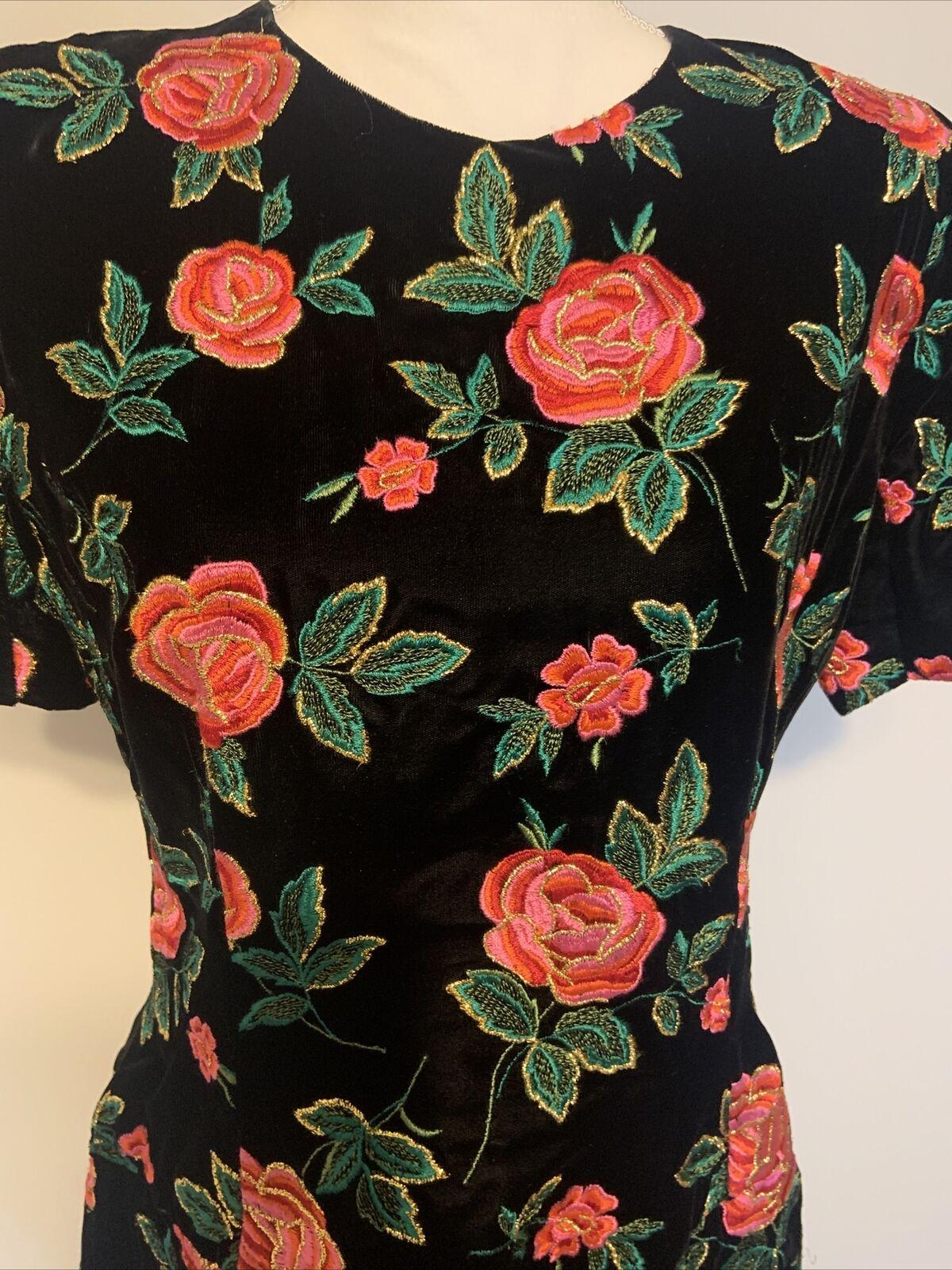 Arnold Scaasi Vintage Couture Black Velvet Embroi… - image 2