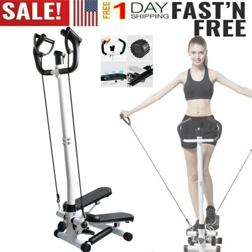 Air Stair Climber Stepper Exercise Machine Aerobic Fitness Equipment w//handlebar