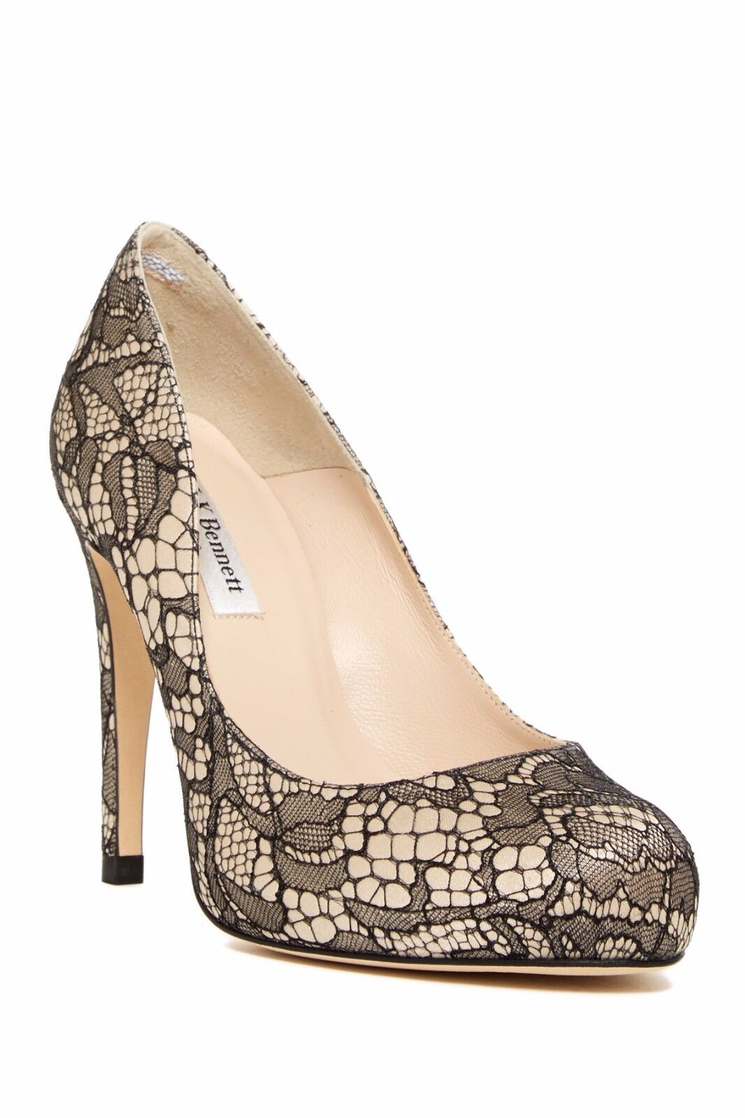 375 L.k. Bennett  Pump Harley Black Lace shoes Heel 41-10 Hidden Platform