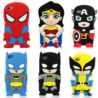 3D Cartoon Marvel Super Heroes Soft Silicone Cover Case For iPhone 4/5/6/6S Plus
