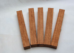 Five Bubinga Exotic Wood Blanks For Pen Turning And Small