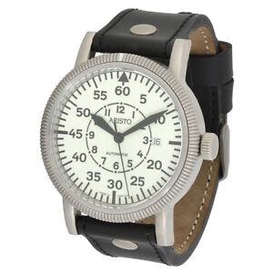 a69542d3bdf Detalhes sobre Aristo Masculino Relógio Automático Aviador 3H42 Ls Eta  2824-2 Nightflight 5ATM- mostrar título no original