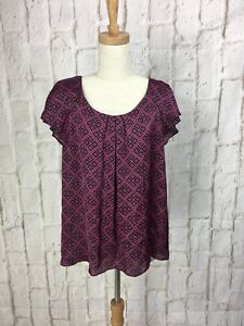 Basque-Black-and-pink-Blouse-size-16