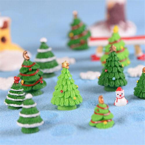 2pcs Christmas Tree Miniature Figurine Dollhouse Garden Decor Micro Landscape/'/'/'