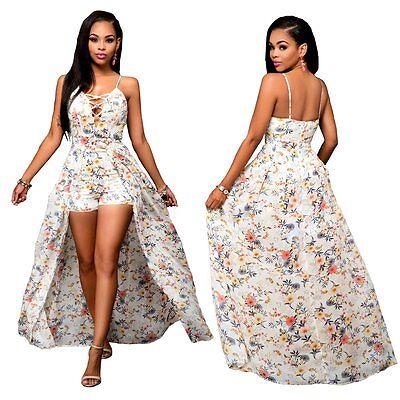 Women Ladies Summer Clubwear Dress Playsuit Bodycon Party Jumpsuit Shorts Romper