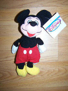 Disney Store Mickey Mouse Bean Bag Plush Stuffed Animal Toy With