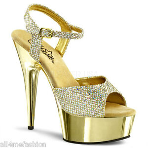 PLEASER-DELIGHT-609G-GOLD-GLITTER-6-034-HEEL-ANKLE-STRAP-PLATFORM-SANDALS-5-14