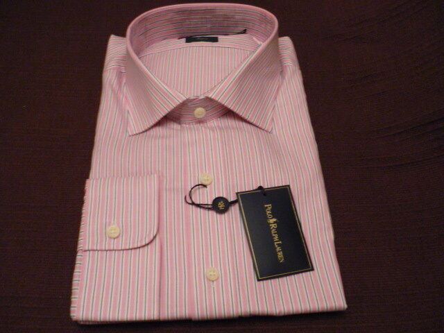 Ralph Lauren Classic Fit Mens Pink Dress Shirt Size L 16 34//35 NWT