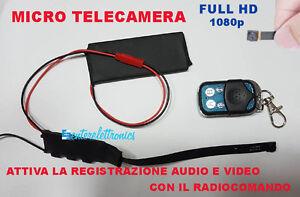 Telecamera Nascosta Da Esterno : Camera spia full hd spy telecamera nascosta microcamera con