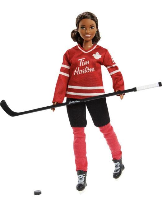 Barbie Tim Hortons Hockey Player Black AA Doll NIB