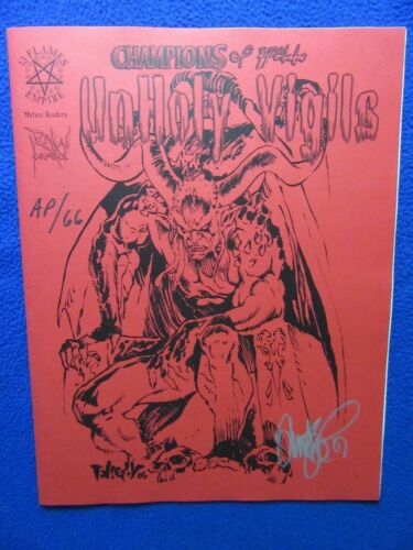 CHAMPIONS OF HELL UNHOLY VIGILS #AP66 SIGNED! TIM VIGIL LOW NUMBER!