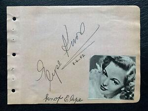 ELYSE KNOX Autograph (1917-2012) Hollywood Actress