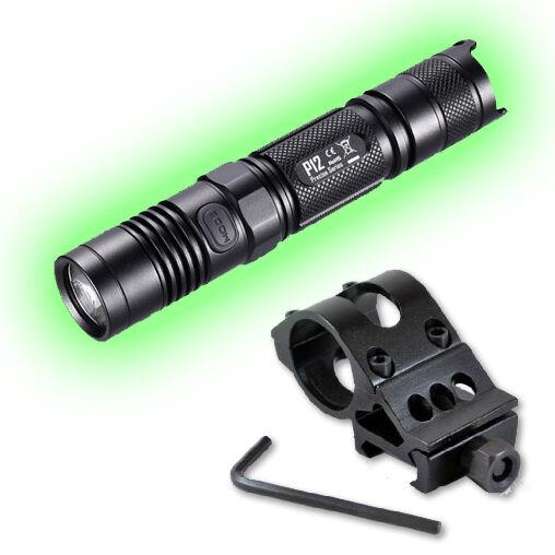 2015 Edition Nitecore P12 Flashlight 1000 Lumens w Offset Weapon Mount