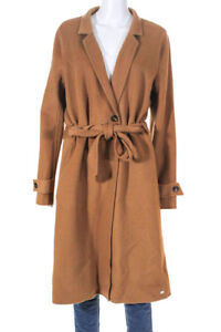 SOIA-amp-KYO-Womens-Wool-Belted-Adalica-Trench-Coat-Camel-Brown-Size-Extra-Large