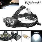 Elfeland 50000LM 5x T6 LED Headlight Headlamp 18650 USB Head Torch Light Lamp