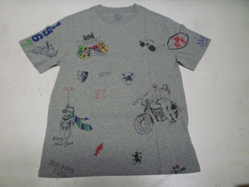Ralph Lauren Polo Boys Artist Draw Cotton Short Sleeve Boys T Shirt Tee Top New