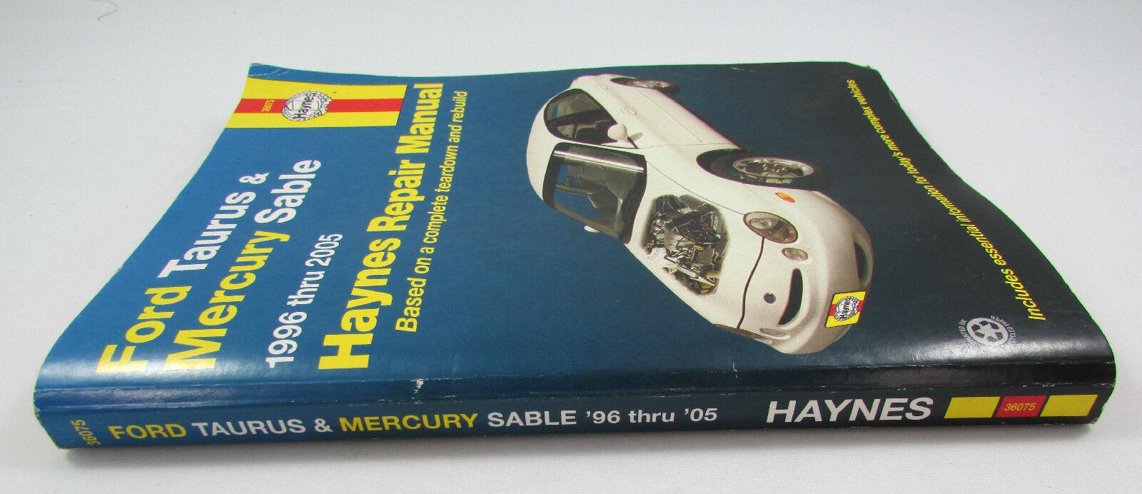HAYNES REPAIR MANUAL 36075 FORD TAURUS /& MERCURY SABLE /'96-/'05