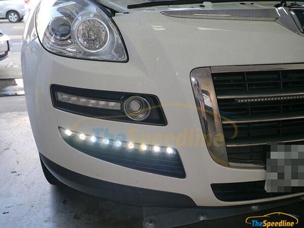 10 11 12 13 14 15 LUXGEN Luxgen7 SUV U7 LED DRL Daytime Runing Light Lamp E-Mark