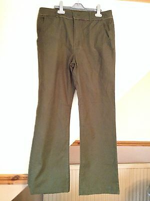 Hawkeshead olive green boot cut summer trousers  Size 16S New without tags