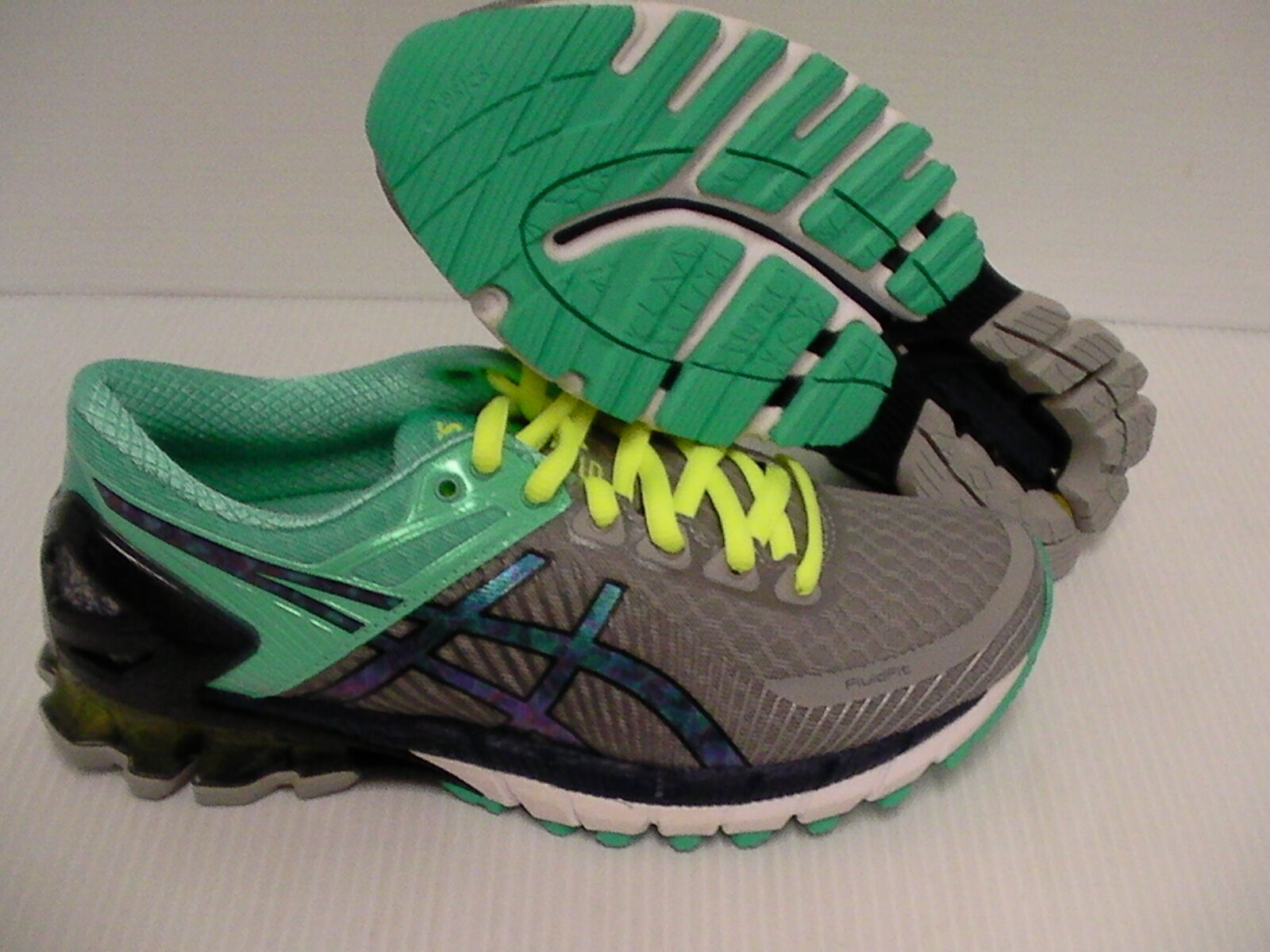Asics women's running shoes gel kinsei 6 light grey titanium mint size 6.5 us