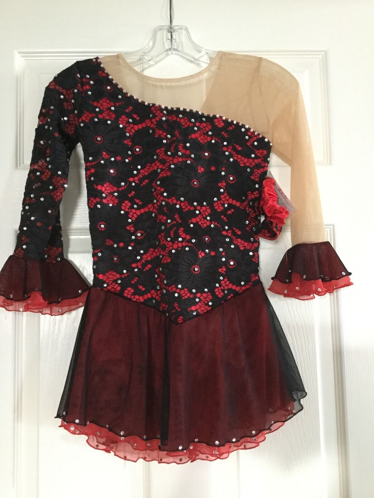 Icings NWT SPANISH THEME COMPETITION ROLLER ICE SKATING DANCE BATON DRESS AM