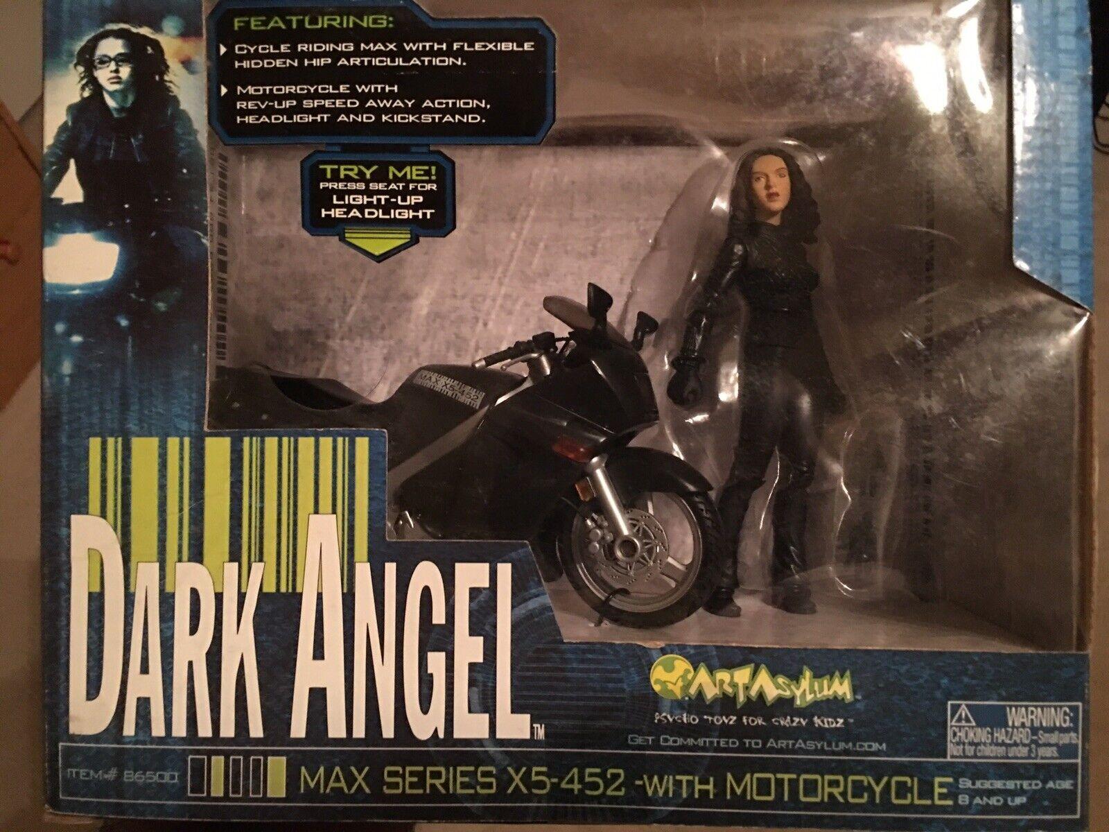 ART asile Dark Angel Jessica Alba figurine avec Max série moto Nouveau
