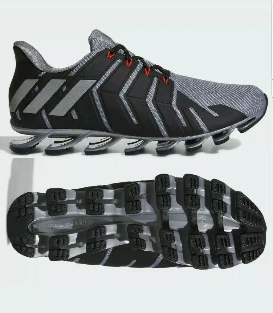 grau Mens Pro Springblade Adidas Running Größe 9.5 uk
