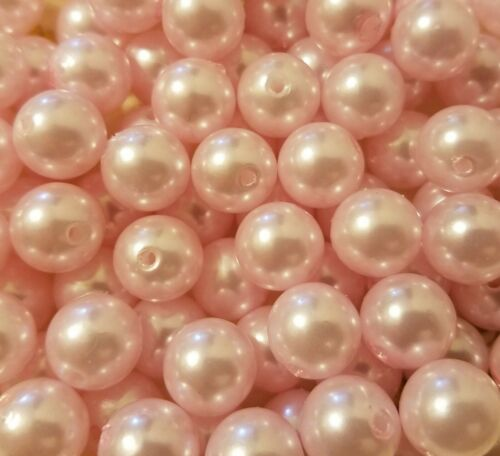 100 pcs Assorted Pastel Loose Artificial Plastic Pearls 12mm Round Craft Beads