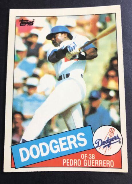 1985 Topps Tiffany Baseball Card 575 Pedro Guerrero