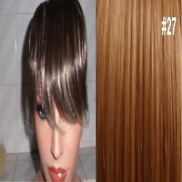Clip in on Fringe Hair Extension Bangs Strawberry Blonde #27