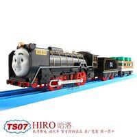 TOMY TRACKMASTER THOMAS&FRIENDS TS-07 HIRO WITH 2 TRUCKS MOTORIZED TRAIN