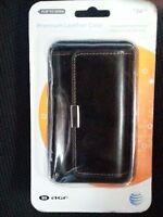 Agf Premium Black Leather Horizontal Case Any Medium Sized Device