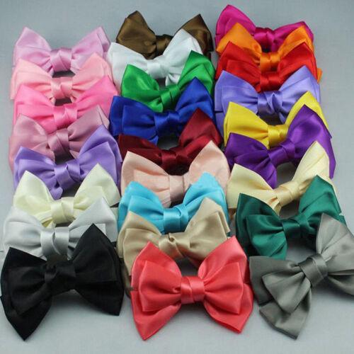 Girls Satin Ribbon Bowknot Hair Bow Hair Pins Alligator Clips Ribbon Hair Clip