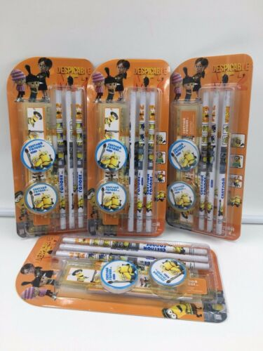 12 Sets Minions Despicable Me 7in1 Stationery Kids stationery party bag fillers