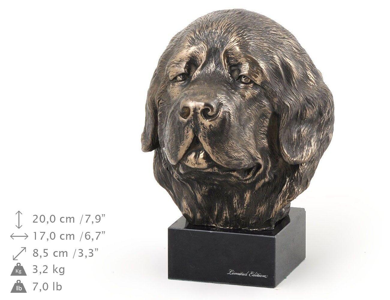 Newfoundland  - dog figurine on the marble base, high quality Art Dog