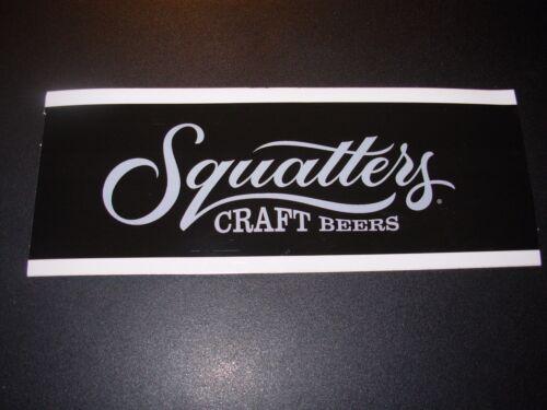 SQUATTERS Salt Lake Brewing Utah rectan STICKER decal craft beer brewing brewery