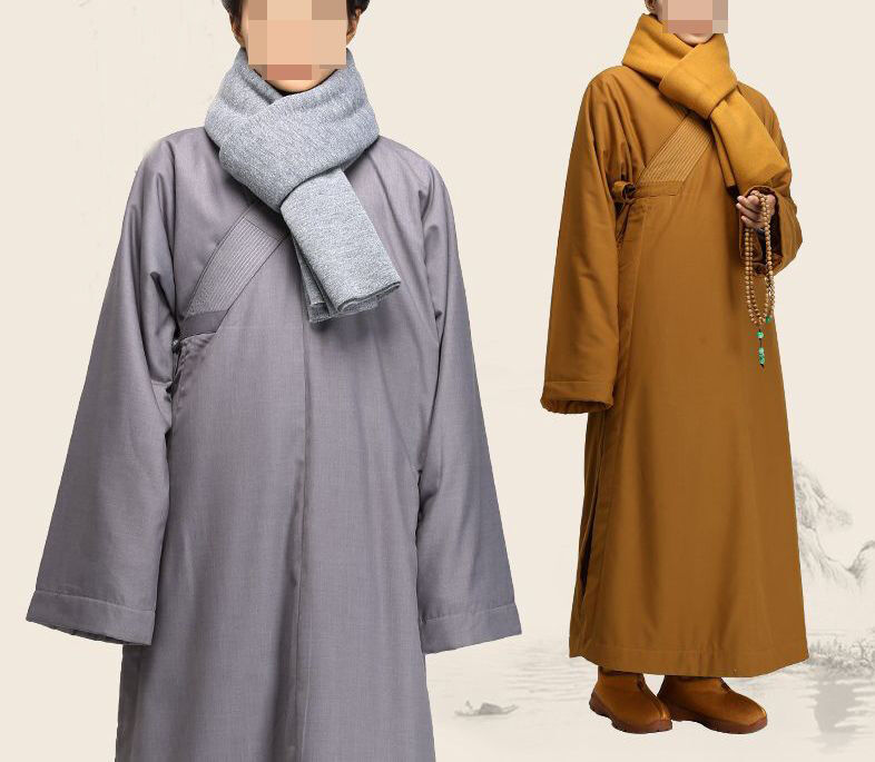 Winter wool buddhist abbot monks robe coat buddhism clothes lay meditation suits