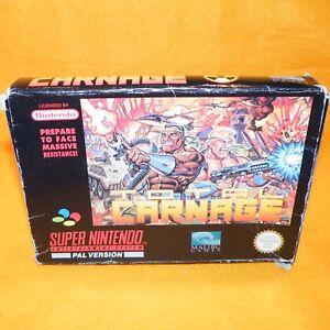 Vintage-1993-super-nintendo-entertainment-system-snes-jeu-Carnage-total-coffret