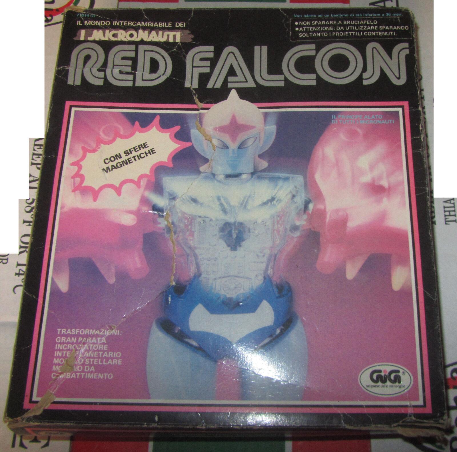 Rosso Falcon Micronauti Micronauts Mego GIG con scatola e accessori