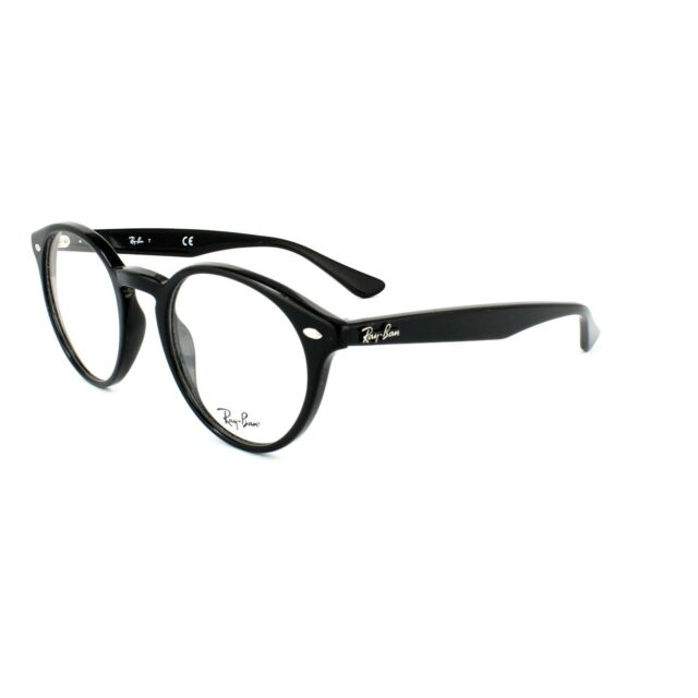 6ab105ae6c66f Ray Ban Round Eyeglasses Prescription Friendly RB Rx2180v 2000 Black ...