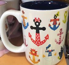 Characters Anchors Mug Coffee Cup Donald Goofy Disney World Theme Parks NEW