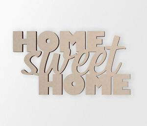 """Wooden Sign """"HOME sweet HOME"""" - Cutout, Home Decor, Unfinished and Available"""