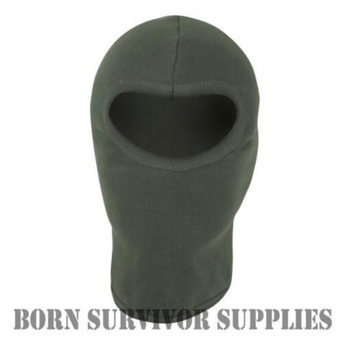 En coton léger open face balaclava-Vert-SAS og