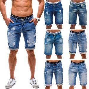 Bolf-Vaqueros-Shorts-Pantalones-cortos-Clubwear-Bermudas-Denim-hombre-motivo-MIX