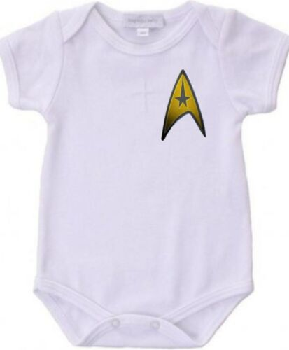 STAR TREK Baby Bodysuit Creeper New Adorable Gift Short Sleeve