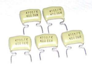 0.018uF 160V 18000pF 2 Condensateurs MULLARD MUSTARD C296 NEUFS 18nF