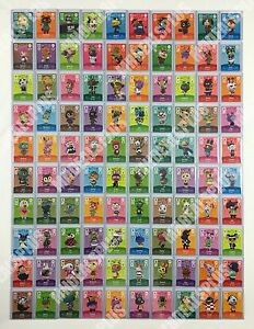 new animal crossing amiibo cards series 1 001 100 us version