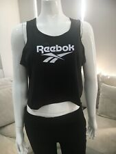 Reebok Activechill Slub Tank Size Large L 12//14 Sheer Women Vest Top RRP £22