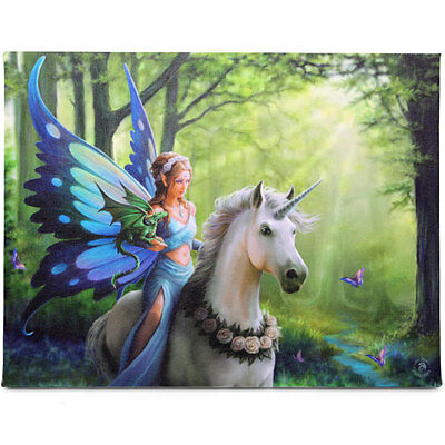 Fantasy Gothic Art Canvas Wall Plaque~Realm of Enchantment~by Anne Stokes~38~uk