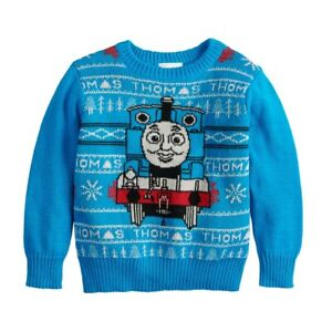 New-Tags-Thomas-the-Train-Holiday-Knit-Sweater-2-3-4